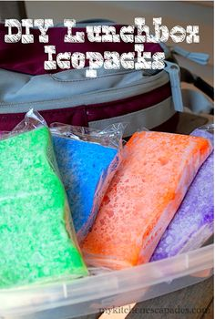 Sponges can be used as DIY lunchbox ice packs. | 33 Life-Changing Food Hacks Every Parent Needs To Know