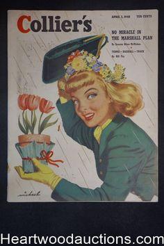 Collier's Apr 3, 1948 Michael Cover