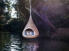 Nest Rest: Huge Hanging Birdhouse-Shaped Hut for Humans