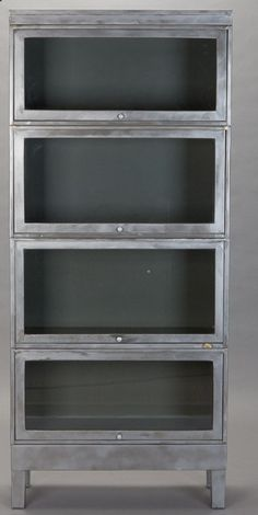 FREE SHIPPING 4 STACK Industrial Eames Era Metal Barrister Lawyers Bookcase Mid Century Vintage Cabinets. $2,695.00, via Etsy.