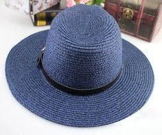 Women's Summer Straw Buckle Accent Hat 2 Colors