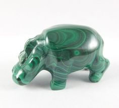 MALACHITE HIPPO (#01) * about 1.5 Inch Size * Hand-carved * Republic of Congo