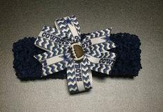 Dallas Cowboys Croshet Headband with Detatchable by ByChinchie