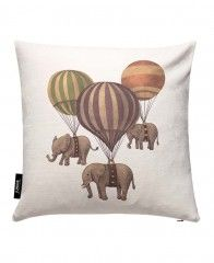 Flight of the Elephants-JUNIQE Pillows