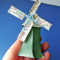 Make this cute, tiny windmill from scraps of paper you have lying around. Free pdf pattern.