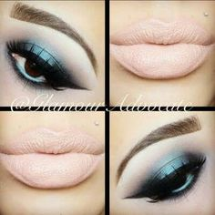 Eye makeup and lipstick