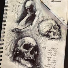 Skeleton Drawings, Ink Pen Drawings, Art Drawings Sketches, Biro Art, Ballpoint Pen Drawing, Bone Drawing, Figure Drawing, Ballpen Drawing, Sketching Techniques