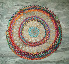 New Desing Floor Mat Round Rug Door Room Mat Carpet Jute With Vintage Saree Jute Carpet, Room Doors, Round Rugs, Doormat, Floor Mats, Saree, Flooring, Handmade, Vintage