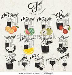 Retro vintage style Soft Drinks design