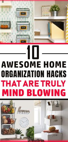 Want to get an organized home easily? Then these home organization ideas are must know for you as they will help you organize your home easy and fast. These home organization hacks make organizing home a child's play as these are some of the best organization tips for home. Glad I could find them for easy home organization. #homeorganizationideas #organizationhacks #homeorganization #offbeatbros #organizationtips #organizedhome