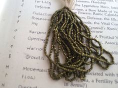 LaSt OnE    Antique French Steel Hank Moss by Frenchsteelbeadshop, $55.00