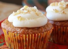 Carrot Cake Cupcakes are perfect for small households.  This recipe makes just six cupcakes, instead of the usual huge Carrot Cake. From Carol Fenster's Gluten-Free Cooking for Two cookbook. Photo by Carol Fenster