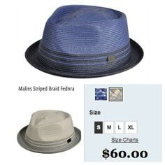 This #Hat is #Hot #WhatAreYouWearing this #MemorialDayWeekend? We are #Loving this #MalinsStripedBraidFedora from #BaileyofHollywood Priced at just $60 this hat is a steal. #GetItWhileItsHot