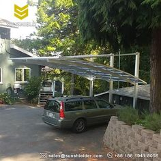 Carport On Sloped Driveway How To Install A Sloping Carport Sunshield Carport Aluminum Carport Christmas Village Houses