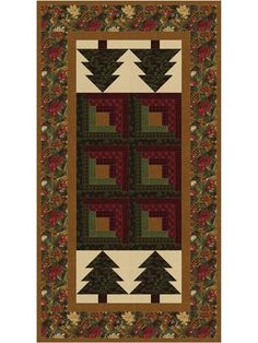 Log Cabin in the Pines Table Runner Pattern