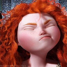 Ya, pretty much every time ah pay more attention to ma hair than tha convesation.<<<<< Merida you goose!