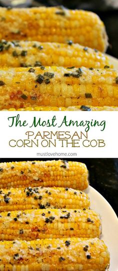 Fresh and crunchy, Parmesan Chive Corn on the Cob is the classic side dish recip. CLICK Image for full details Fresh and crunchy, Parmesan Chive Corn on the Cob is the classic side dish recipe - hot and buttery for your. Healthy Recipes, Side Dish Recipes, Veggie Recipes, Cooking Recipes, Corn Cob Recipes, Parmesan Recipes, Bbq Recipes Sides, Mexican Recipes, Dishes Recipes