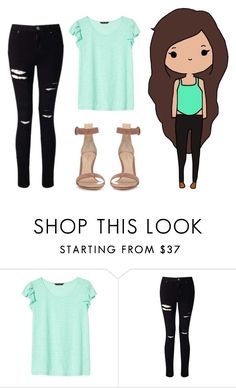 """""""Untitled #142"""" by hanooshi ❤ liked on Polyvore featuring Banana Republic, Miss Selfridge and Gianvito Rossi"""