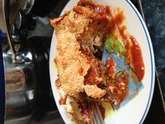 eggplant and zucchini Parmesan, layered lasagna style with soft ...