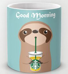 Good morning cute coffee mug