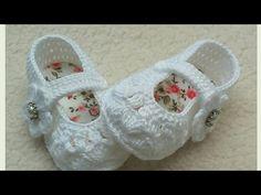 Sapatilha Laura, em crochê ( Parte 1/2) - YouTube