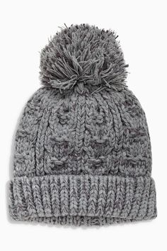 c80a0c1325b Buy Grey Bobble Beanie Two Piece Set (Younger Boys) from the Next UK online