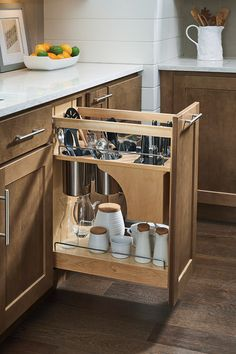 Etonnant The Base Utensil Pantry Pullout Cabinet With Knife Block Holds Knives In  Any Size Or Shape