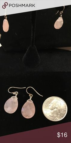 Silpada Pink Quartz French wire earrings Hard to see in the picture but these are beautiful simple pink quartz earrings on French wires. Never worn but used for display purposes only. Silpada Jewelry Earrings