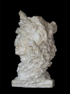 "Анна Голубкина. Ваза ""Туман"", мрамор, 1908.   ГТГ. Другой пример пластического усложнения (модерн)."