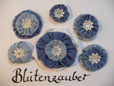 6er-Set Shabby Blumen Applikationen Vintage Tischdekoration Spitze Handarbeit