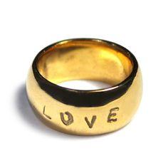 la ferge gilded love ring.