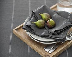 Linen Napkin Italian | Steel Stripe