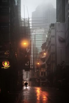 hongkong sous la pluie