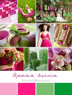 #pink #green #wedding mood