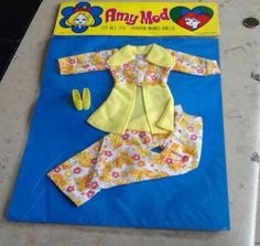 70's Vintage Fashion Mod for Barbie Size Dolls Flower Power Outfit Hong Kong | eBay