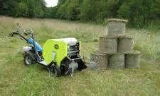 Walk behind hay baler