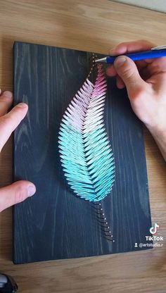 Cool Paper Crafts, Diy Crafts To Do, Handmade Crafts, Arts And Crafts, String Wall Art, Diy Wall Art, Diy Art, String Art Tutorials, String Art Patterns