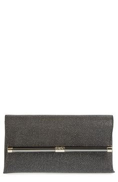 Diane+von+Furstenberg+'440'+Stingray+Embossed+Leather+Envelope+Clutch+available+at+#Nordstrom