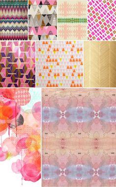 Spitfiregirl Pattern & Texture Inspiration MoodBoard