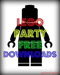free printables - lego maze printable/lego racecar driver man image/ shirts design lego man/ bday on lego man image/bday lego banner, etc party - heaps of free printables