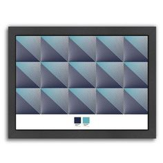 Americanflat Triangles 4 by Armand Framed Graphic Art Size: