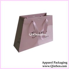 Lingerie shopping bag : High quality Trapezoid Paper Gift Bag with Custom Logo Design For Lingerie/Underwear. www.qinsen.com