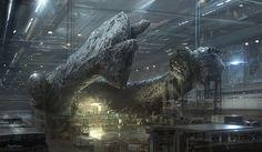 ArtStation - 2014 | Concept art | Film project | Alien5 | Neill Blomkamp | Factory, Geoffroy Thoorens