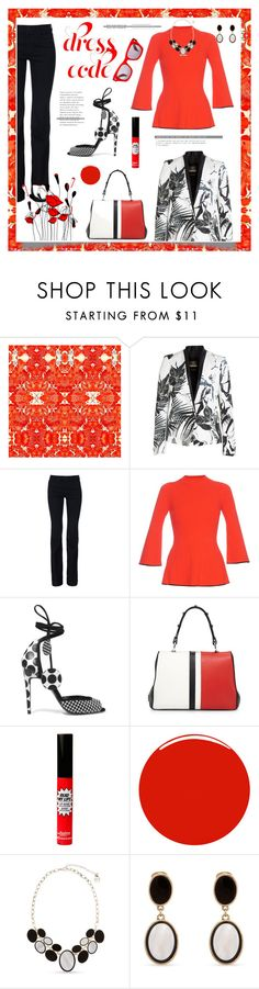 """""""Dress code"""" by eereich ❤ liked on Polyvore featuring Timorous Beasties, Roberto Cavalli, STELLA McCARTNEY, Proenza Schouler, Pierre Hardy, Prada, TheBalm, Christian Louboutin, Erica Lyons and Jacques Marie Mage"""
