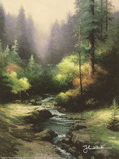 Creekside Trail by Thomas Kinkade