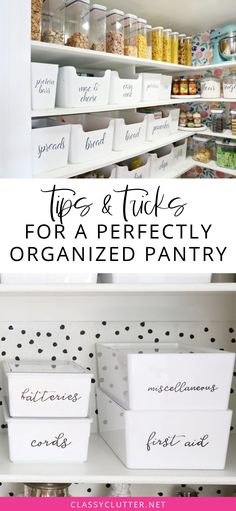 How to organize your pantry. Organization of pantry baskets. Tips and tricks to organize your pantry. How to label food in your pantry. Our home: one pantry, two – Gray N Black Kitchen Pantry Design, Kitchen Pantry Cabinets, Diy Kitchen Storage, Kitchen Layout, Ikea Pantry Storage, Pantry Shelving, Kitchen Counters, Kitchen Flooring, Open Shelving