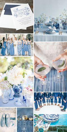 French Blue wedding inspiration for Wildflower Wedding Invitations