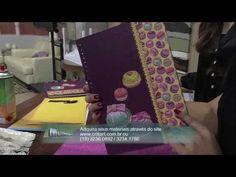 Caderno de receitas com papel de scrap - video 2/2 - YouTube