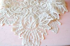 lovely antique wide lace remnant by DustyDaisy on Etsy