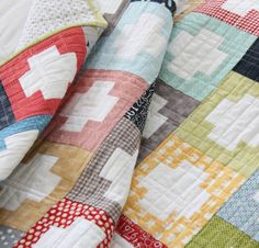 quilt for boys' beds. inside out pattern by cluck cluck sew (love her stuff!)